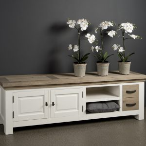 Tv Meubel Maison White Antique 190 cm